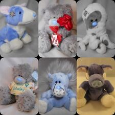 selection of blue nose/ me to you soft toy