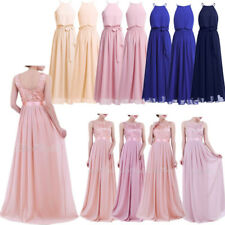 Long Chiffon Evening Formal Women Party Ball Prom Gown Prom Wedding Dress HOT