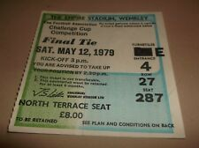 1979 F A CUP final ticket - Arsenal v Manchester United - EXCELLENT CONDITION