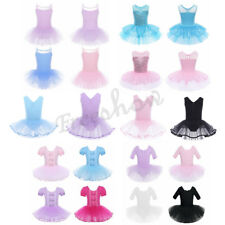 Kids Girls Ballet Tutu Skirt Dress Gymnastic Dancewear Leotard Glitter Costumes