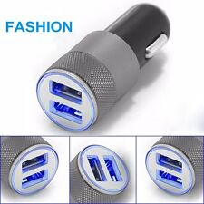 Mini Dual USB Twin Port 12V Universal In Car Lighter Socket Charger Adapter LS