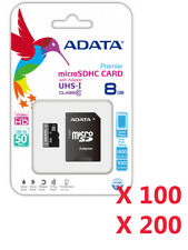 New Lot Of 100 200 ADATA Class 10 8GB MicroSD Micro SD SDHC TF Memory Card 8 GB