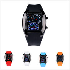 Hot Sale Stunning Rpm Turbo Blue Flash Led Mens Sports Car Meter Dial Watch