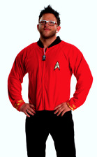 Unisex Red Star Trek Polar Fleece Adult Sized Footed Pajamas Holiday Christmas