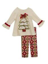 Rare Editions Ivory Red Christmas Tree Legging Set  2T 3T 4T