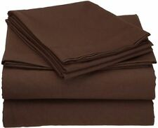 BEDDING COLLECTION 100% Egyptian Cotton 1000 TC AU Sizes in Chocolate Solid