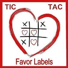 Personalized Tic Tac Wedding Favor Labels