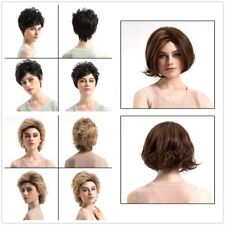 Ladies Short Curly Wavy Wig Women Hair Fancy Dress party Cosplay Wigs Synthetic