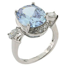 Oval Lavender CZ Sterling Silver Jewelry Women Wedding Engagement Ring
