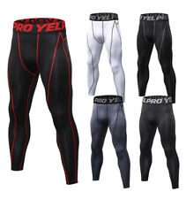 Mens Compression Running Pants Workout Gym Training Sportswear Under Base Layers