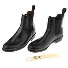 Classic Kid Child Equestrian Ankle Boots Horse Riding Pull On Footwear Shoes
