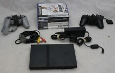 Sony Playstation PS Two Slim Bundle + 6 Games + 2 Controllers - 215