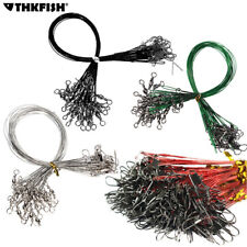60 Pcs/lot Fishing Line Steel Wire Leader With Swivel Fishing Accessory 4 Color