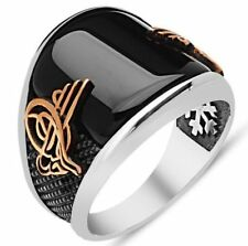 STERLING 925 SILVER HANDMADE JEWELRY BLACK ONYX MENS RING