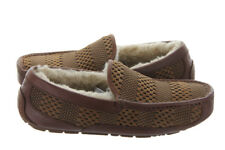 UGG Australia Men's Ascot Weave Chestnut Suede Slippers Size 10 NEW