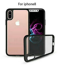 New Transparent Shockproof Cover Hard Plastic Shell case frame for iPhone 8
