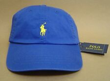 NWT POLO RALPH LAUREN Classic Cotton Chino Sports Cap PONY Baseball Golf Hat