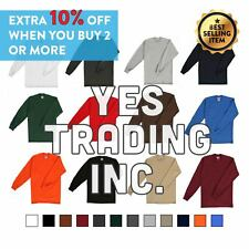New PROCLUB Men's Heavyweight THERMAL Top Long Sleeve Shirts Waffle Solid S-5XLT