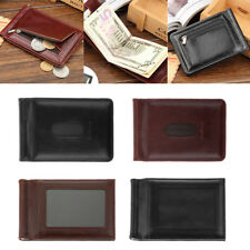 New Men's PU Leather Bifold ID Credit Card Money Holder Wallet Coin Bags Slim