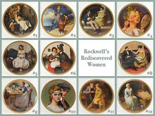 """Norman Rockwell """"Rockwells Rediscovered Women"""" Collector Plates, Various Issues"""