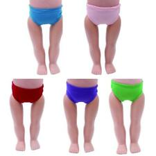 5 Colors Cotton Underwear Clothes for 18inch American Girl Zapf Baby Born Dolls