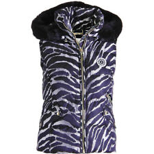NWT JUICY COUTURE Black Label Silver Hooded Puffer Vest Jacket Coat $228