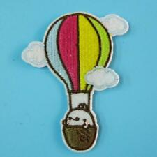 Hot Air Balloon Plane Iron on Sew Patch Applique Badge Embroidered Cute Badge