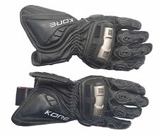 Bike Rider Bar Silver Knuckles Divalo Heavy Duty Leather Sports Gloves