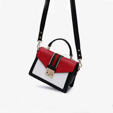 Women Handbags Contrast Color Messenger Shoulder Bag Crossbody Satchel Purse