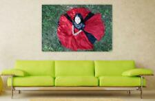 Canvas Poster Wall Art Print Decor Girl Indian Red Oriental Beauty