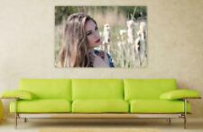 Canvas Poster Wall Art Print Decor Girl Portrait Blonde Nature Beauty