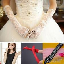 Women Wedding Party Evening Long Lace Gloves Bridal Gloves Sunscreen TXGT 01