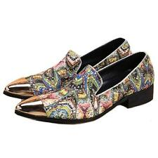 Dress Design US Size 5-12 Fashion Multicolor Leather Mens Slip On Loafers Shoes