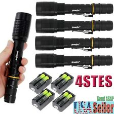 Zoomable 20000LM CREE XML T6 LED 5Mode Tactical Flashlight+Charger+18650BTY  F