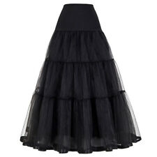 Petticoat Tulle Wedding Ball Gown Black White Under Skirt Crinoline Long