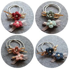 Flower Hair Rubber bands Ties Hair Accessories Rope Cloth Headbands Hair Ring