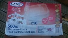 Food Containers Plastic Takeaway Microwave Freezer Safe Storage Boxes LIDS SATCO