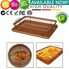 Gotham Steel Copper Crisper Tray - AIR FRY IN YOUR OVEN -NEW! Free Shipping LH