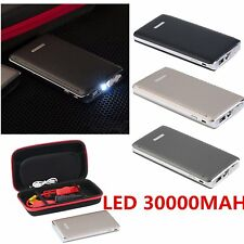 30000mAh Car Jump Starter Battery Charger Power Bank Portable Pack Booster+LED U
