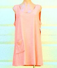 Cotton / Poly Sleeveless Terry Cloth Tank Style Cover Up w/ Pocket - Size S