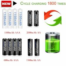 PALO 2/4pcs 1.2V NI-MH AA/AAA 600/1100/1300/2500mAh Rechargeable Batteries MC