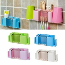 Multifunctional Toothpaste and Toothbrush Holder Creative Organizer Box NS