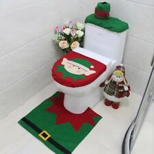 Christmas Decorations Elf Deer Santa Claus Toilet Seat Cover Ornament ZN