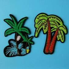 2 Patch Cactus Desert Iron on Embroidered Badge Applique Motif Biker Palm Tree