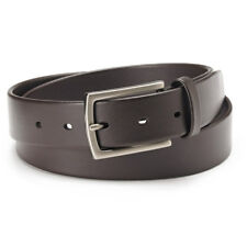 New APT·9 Men's Feather Edged Brown Genuine Leather Casual Belt Size 34,42 $28