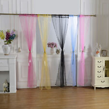 Romantic Sheer Curtain Window Curtains Bedroom Voile Drape Panel Solid Curtains