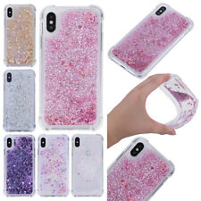 Bling Glitter Liquid Quicksand Soft TPU Back Case Cover For iPhone 7 8 Plus X 10