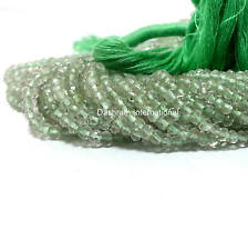 "Natural Green Amethyst Gemstone Beads Rondelle Cut 13"" Strand Top Quality Beads"