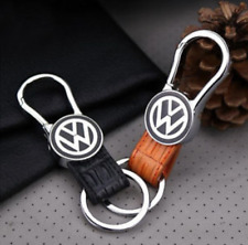 For Volkswagen Elegant Fashion Genuine Leather Metal Car Keychain Car Key Ring
