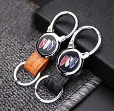 For Buick Elegant Fashion Genuine Leather Metal Car Keychain Car Key Ring